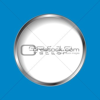 Abstract round shape with silver frame
