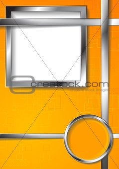 Bright technology vector background