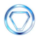 Vector blue elegant shape