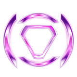 Vector purple elegant shape