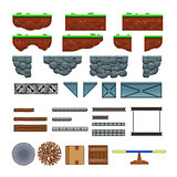 Platforms and items for games.