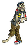 Cartoon zombie teenager