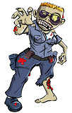 Cartoon zombie police woman