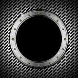 Dark Grunge Metal Porthole