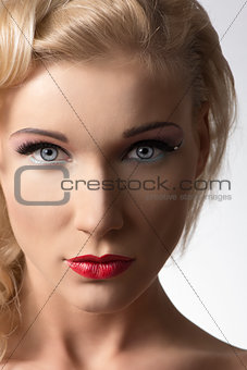 beauty girl witth pretty make-up