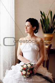 bride waiting for a groom