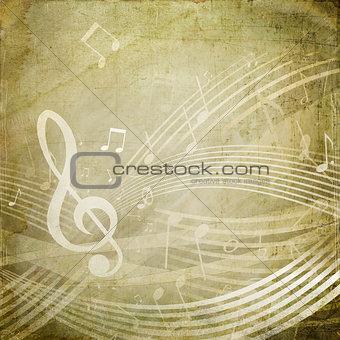 Grunge Musical Notes
