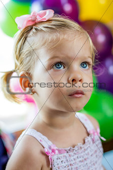Little girl at a party