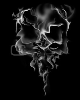 abstract smoke skull