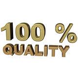 inscription 100% quality
