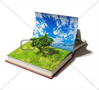 book with tree