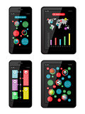 Isolated gadgets with design elements and templates. EPS10 vector illustration.