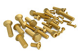 Brass bolts