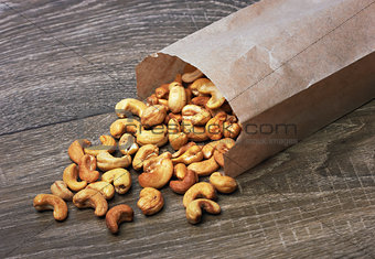 cashew nuts in package