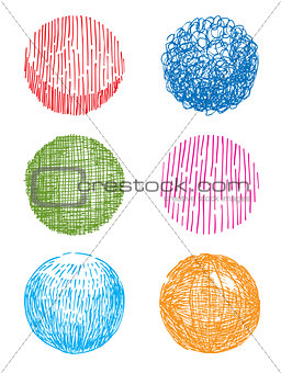 Artistic hand-drawn sphere