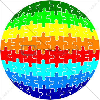 Background Vector Illustration Jigsaw Puzzle Sphere