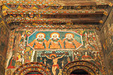 ancient church interior in gondar ethiopia
