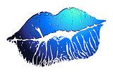 Print blue lips