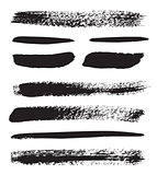 Collection of natural brush strokes