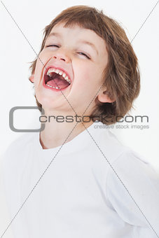 Young Happy Boy Laughing