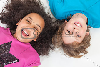 Interracial Boy & Girl Children Having Fun