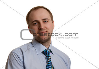 portrait of an unshaven businessman