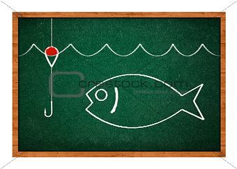 Fishing drawing