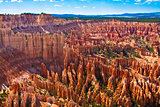 Amphitheater of Hoodoos from Inspiration Point, Bryce Canyon National Park, Utah, USA
