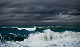 ocean or sea storm