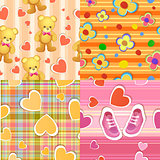 Seamless baby background patterns