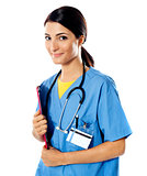 Beautiful lady doctor with stethoscope