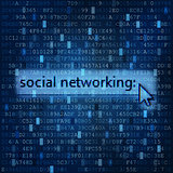 Social networking digital media background