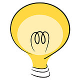 Think idea lamp illustration