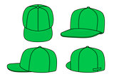 Green rap cap