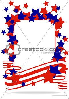 greeting card with stars