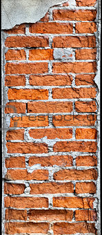 Vertical brick column requires repair