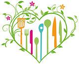 Brightly colored Kitchen utensils