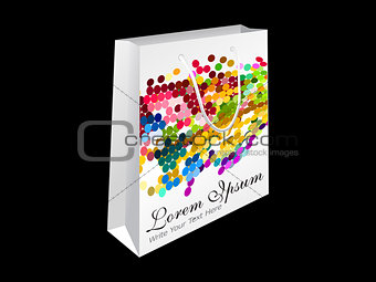 abstract rainbow shopping bag