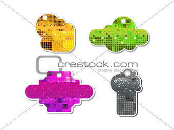 abstract colorful sparkle sale tag