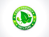 abstract eco friendly icon