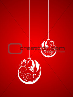 abstract artistic floral christmas ball