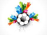 abstract football explode