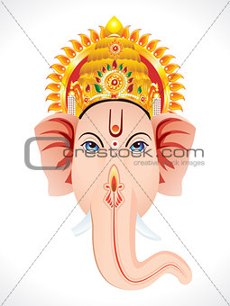 abstract ganesha head concept