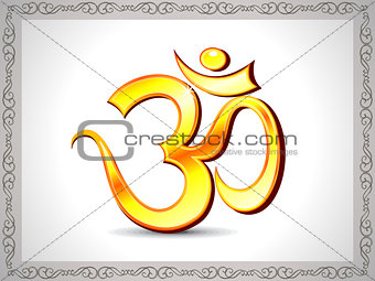 abstract shiny golden om wallpaper