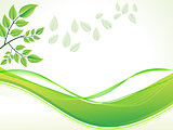 abstract green foliage with wave