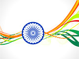 abstract indian flag wave concept