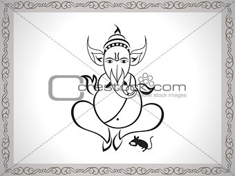 abstract ganesha sketch