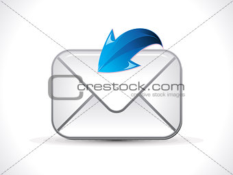 abstract shiny mail icon