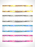 abstract multiple banner set