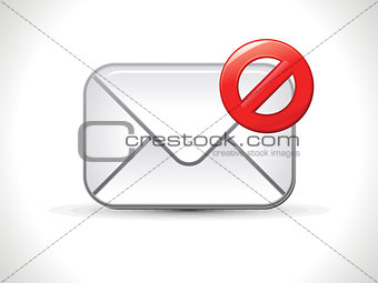 abstract shiny spam mail icon